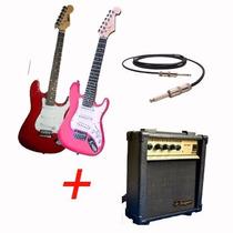 Guitarra Electrica Mirrs Niños + Amplificador +cable