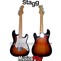 Guitarra Electrica Stratocaster Niño Stagg J200 Musica Pilar
