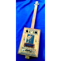 Cigar Box Guitar Clasica Con Mic
