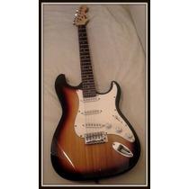 Excelente Guitarra Stratocaster Marca Field C/ Funda Permuto