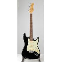Guitarra Electrica Stratocaster Eko S300e Color Negro