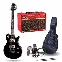 Guitarra Electrica Les Paul Samick + Ampli Vox Pathfinder