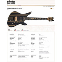 Schecter Synyster Gates Custom-s - Black/gold, Sustainiac