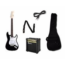 Combo Guitarra Eléctrica Squier By Fender + Ampli Ross + Acc