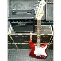 Combo Guitarra Sx Y Amplificador Kustom Con Accesorios