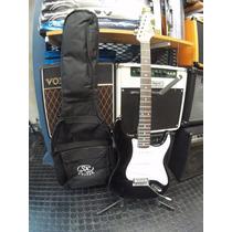 Guitarra Sx Stratocaster Standard Bk Series Color Negro