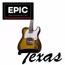 Texas Telecaster Guit. Elect. 2 Microf, Tobacco Burst