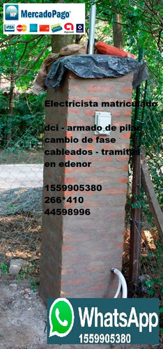 Electricista Matriculado Hurlingham Dci Medidor Edenor Mp