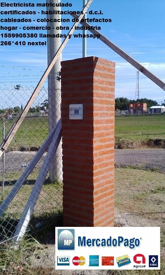 Electricista Matriculado Jose C Paz Dci Edenor Medidor Mp