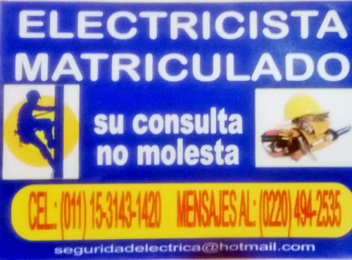 Electricista Matriculado Zona Oeste Ya!! Dci-gestion Edenor