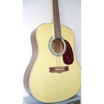 Guitarra Electro Acustica Nogal Muy Comoda ,afina Ok,c/funda