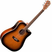 Guitarra Electroacustica Washburn Wd7sce Atb Tobaco Sunburst