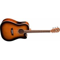 Guitarra Electroacústica Washburn Wd7 Sceatb