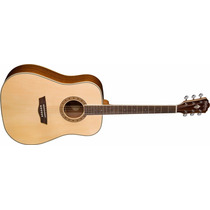 Guitarra Electroacustica Washburn Wd10se Natural