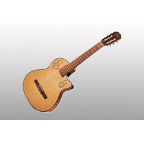 Guitarra Electroacústica La Alpujarra 300 Kec Tipo Godin