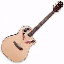 Guitarra Electroacústica Tipo Ovation Master Parquer Con Eq