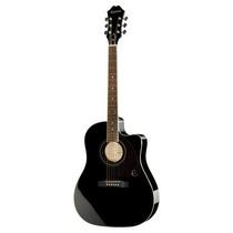 Epiphone Aj220sce Eb Guitarra Electroacustica Negra