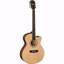 Washburn Ea12n Guitarra Electroacustica Con Eq Y Afinador