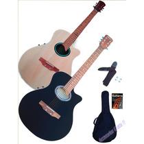 Guitarra Electroacustica Eq C/ Afinador 1/2 Caja + Promo