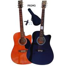 Guitarra Acustica Electroacustica C/cort Eq Funda Y Afinador