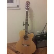 Guitarra Electroacustica Memphis A1218cet-n Igual A Nueva!!!