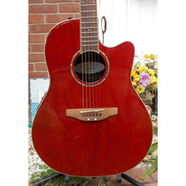 Ovation Gc057 Ruby Red Con Anvil Road Runner