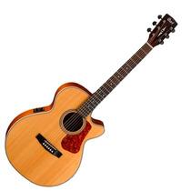 Guitarra Electro Acustica Cort Incluye Funda L100f-ns