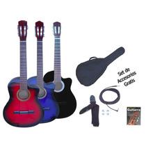Guitarra Criolla Electroacustica + Set Accesorios