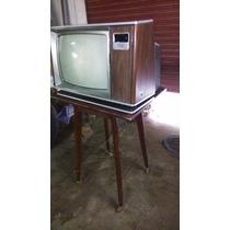 Antigua Mesa De Tv Y Tv Zenit 20 Color