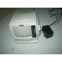 Antiguo Televisor Portatil Miniatura