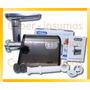 Picadora De Carne Eléctrica Acero Inox + Accesorios