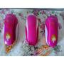 Pack De 3 Teléfonos De Juguete Barbie/rosa No Funcionan!!!