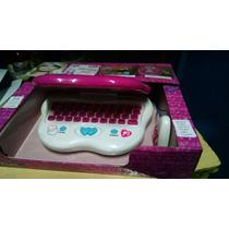 B- Laptop Barbie Con Stickers 64 Actividades Tuni Br-242