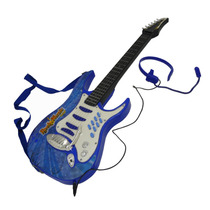 Guitarra Rock And Music Junior Con Microfono Azul