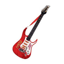 Guitarra Rock And Music Junior Con Microfono Roja