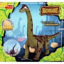 Dinosaurio Brachiosaurus Camina Pone Huevo,sonido,luz, Holog