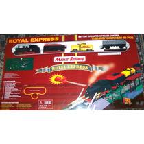Tren A Pilas Grande Luz Sonido Luces C Remoto Humo 776 Cm !!