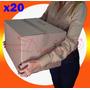 Cajas Mudanza Chica Reforzadas Cartón 45x35x30 Pack 20u