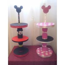 Porta Cupcakes Torre Minne Mini Mouse Mickey Rosa Roja
