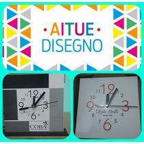 Reloj De Pared Con Logo-personalizado-souvenirs-precioxmayor