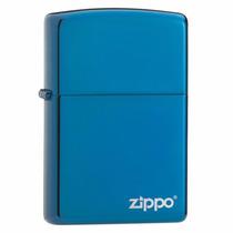 Encendedor Zippo 20446zl Azul Plateado Pulido Logo