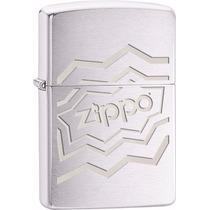 Encendedor Zippo 28785 Geometrical Logo Pulido Plateado
