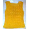 Musculosa Chaleco Blusa, Tejido Al Crochet, En Hilo Amarillo