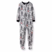 Pijama Enterito Carters Varon Nene Talle 4-5 Años Micropolar