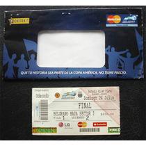 Entrada Original Final Copa America 2011 - Uruguay Paraguay