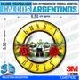 Calcomanias 3d Con Relieve, Resina Importada Guns N Roses