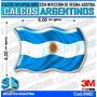 Calco Encapsulado C/resina 3d Domes Bandera Argentina