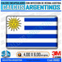 Calcomanias 3d Con Relieve, Resina Importada Bandera Uruguay