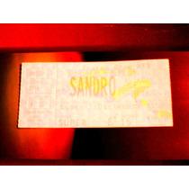 Sandro Entrada Sin Cortar Gran Rex Diciembre 1998