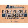 Entrada De Colecccion Concierto Deep Purple